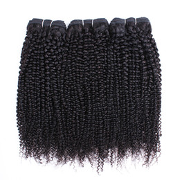 Chinese  Afro Kinky Curly Hair Bundles Brazilian Peruvian Indian Virgin Hair 3 or 4 Bundles 10-28 Inch Remy Human Hair Extensions manufacturers