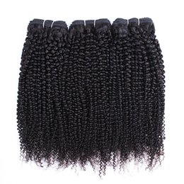 Wholesale Afro Kinky Curly Hair Bundles Brazilian Peruvian Indian Virgin Hair or Bundles Inch Remy Human Hair Extensions