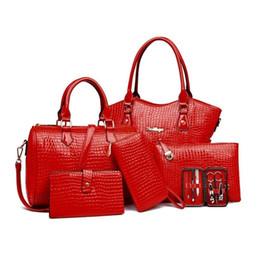 $enCountryForm.capitalKeyWord Canada - 7PCS SET Women Composite Bag Female Lady Shoulder Handbag Clutch Bag Set Luxury Handbags Women Bags Designer Bolsos De Marca