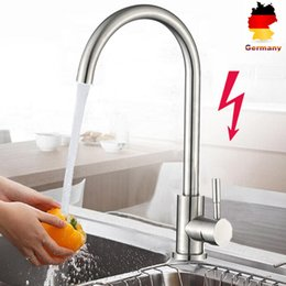 modern kitchen faucets Australia - 1 Pc Faucet Stainless Steel 360 Degree Modern Hot and Cold Mixer Single Handle Swivel Faucet for Home Kitchen