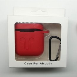 Wholesale Boxes Packaging Australia - Protective Headphone Case Holder Shell Cover with Carabiner Keychain Fit for airPods Bluetooth Headset Charging Box With Package