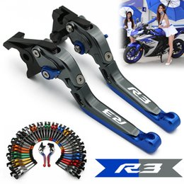 Discount extendable lever yamaha - Laser Logo R3 Red&Titanium CNC Adjustable Folding Extendable Motorcycle Brake Clutch Levers For Yamaha YZF R3 2014 2015