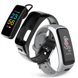 $enCountryForm.capitalKeyWord Australia - Bluetooth Earphone Smartband 2 In 1 Passometer Heart Rate Blood Pressure Monitor Smart Bracelet Sport Fitness Tracker Wristwatch