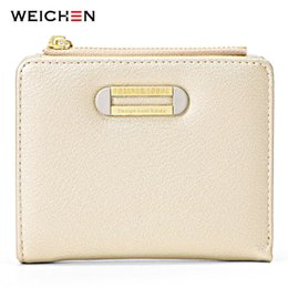 Discount wallet brands for ladies - WEICHEN Brand Designer Small Wallet For Women Card Holder Zipper Coin Purses Ladies Slim Wallet High Quality Female Purs