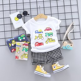 Prussian Clothing Australia - kids summer boutique clothing newborn baby boys toddler children clothes 2 pieces high quality kids infant clothing
