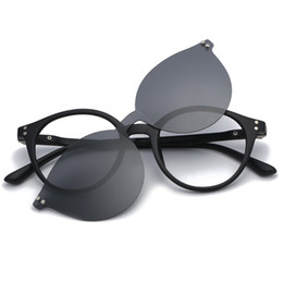 ffc6978ffd Polarized Clip On Sunglasses Men Women Magnet Eyewear Glasses Frames TR90  Optical Glasses Custom Prescription Myopia Frame