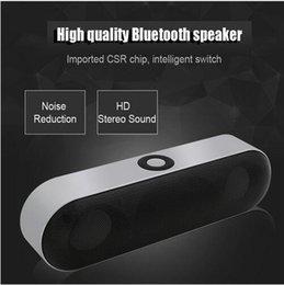Subwoofer Stereo Input Australia - New 6 W Mini Bluetooth Speaker Wireless 3D Stereo subwoofer audio HIFI loudspeaker box for portable phone with FM Radio Music Microphone
