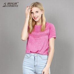 Polo female shirts online shopping - HIGH EXPERIENCE polo shirt male and female short sleeved T shirts summer breathable sports speed dry clothes