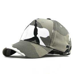fitted tactical hats UK - Men Baseball Caps Army Tactical Camouflage Cap Outdoor Jungle Hunting Snapback Hat For Women Bone Dad Hat