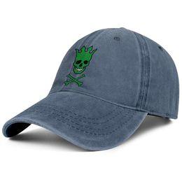 $enCountryForm.capitalKeyWord Canada - Men womens vintage Denim caps washing Adjustable Pearl Jam Green Disease skull design ball hat cute Dad cap Outdoor