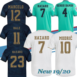 blue real madrid s soccer jersey NZ - Thai New 2019 real Madrid soccer jerseys 19 20 HAZARD camiseta de fútbol 2019 2020 VINICIUS ASENSIO football suit camisa de futebol suit