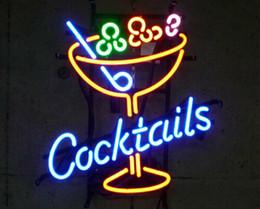"$enCountryForm.capitalKeyWord Australia - 17""x14"" Cocktails Martini Glass Neon Sign Bar Wall Decor CUSTOM REAL GLASS TUBE LIGHT BEER BAR PUB CLUB STORE DISPLAY SIGN SIGNAGE"