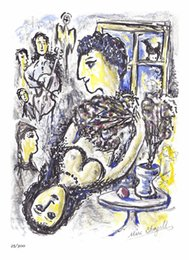 $enCountryForm.capitalKeyWord Canada - Marc Chagall Abstract Art Happiness,Oil Painting Reproduction High Quality Giclee Print on Canvas Modern Home Art Decor
