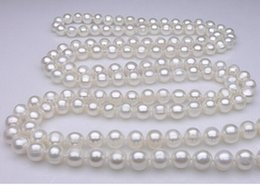 Chain Counter NZ - FREE SHIPPING+ + Counter genuine 10-11mm new sweater chain natural pearl necklace multilayer Long Necklace