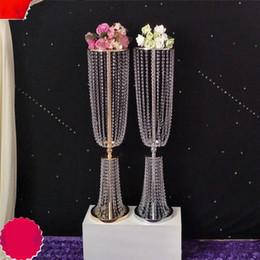 $enCountryForm.capitalKeyWord Australia - 80cm 100cm Acrylic Crystal Wedding Flower Ball Holder Table Centerpiece Vase Stand Crystal Candlestick Wedding Decoration
