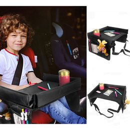 Baby Car Seat Toys Australia - Updated Baby Car Table Kid Painting Flat Tray Thicken Board With Drink Cup Holder Child Toy Desk Safety Seat Chair Travel