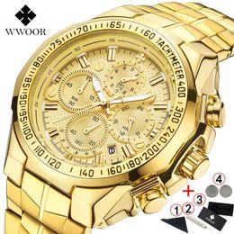 $enCountryForm.capitalKeyWord Australia - Relogio Masculino Wrist Top Brand Luxury Wwoor Golden Chronograph Men Watches Gold Big Male Wristwatch Man 2019 J190628