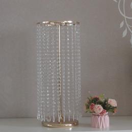 $enCountryForm.capitalKeyWord Australia - Crystal Vase Flower Stand Wedding Centerpiece Table Decor Road Lead Wedding Stand Home Decoration
