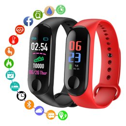 water smart watch NZ - Hot Sale Trend M3 Men Women Watches Smart Multi-function Bracelet Student Sports Bluetooth Heart Rate Running Tracker Waterproof