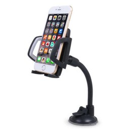Discount car mobile holder long arm - Universal Long Arm Windshield Mobile Car Mount Bracket Holder For Your Cell Phone Stand For Iphone Gps Mp4