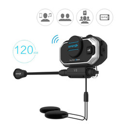 bluetooth headset motorcycle gps Australia - English Version Easy Rider vimoto V8 Helmet Bluetooth Headset Motorcycle Stereo Headphones For Mobile Phone and GPS 2 Way Radio