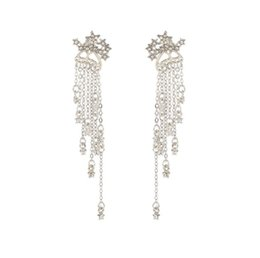 $enCountryForm.capitalKeyWord UK - Long fashion jewelry sparkling star tassels back-hanging exquisite earrings the best gift for women free shipping