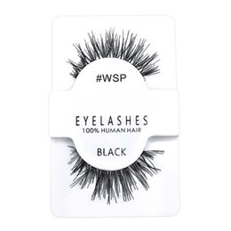 human lashes UK - Dramatic Soft Human Hair False Eyelashes Handtied Clear Band Free Logo Printing Wispy Makeup Beauty Tools Eyelash Extension