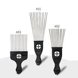 $enCountryForm.capitalKeyWord Australia - Retro Oil head Professional Flat Comb Fork comb Steel needle Pick Hair flat comb Hairdressing Styling Tools barber brush