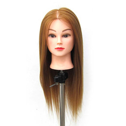 """$enCountryForm.capitalKeyWord Canada - 24"""" 100% Synthetic Hair Hairdressing Cosmetology Mannequin Manikin Training Head Model With wig + Clamp Free Shipping"""