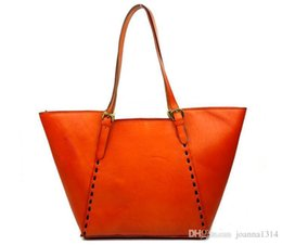 $enCountryForm.capitalKeyWord Australia - KISSUN Factory Leather Shopping Bag Tote Bag With Rivets Women Handbag Shoulder Bag Simple Design Hot Sales Design Best Quality Luxury