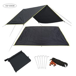 Outdoor Sheds NZ - 420D Oxford Cloth Multi - Purpose Camping Cloth Canopy Tent Outdoor Camping Sunshade Rainproof Shed Sunshade
