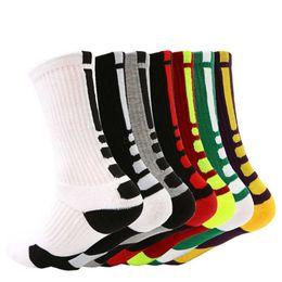 Compression soCks sports online shopping - USA Professional Basketball Socks Long Knee Athletic Sport Socks Men Fashion Compression Thermal Winter Sport Stockings LJJA2694
