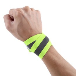 Arm Wrist Bands UK - 2PCS Pair Outdoor Arm Wrist Support Cycling Running Sports High Visibility Reflective Wrist Bands Elastic Ankle Bands New