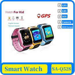 blackberry touch screen watch phone UK - 100x Q528 Newly GPS LBS OLED Touch Screen Kids GPS Watch with Camera Lighting Smart Watch Sleep Monitor GPS SOS Baby Watch PK Q50 Q750 Q100