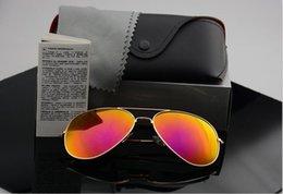 $enCountryForm.capitalKeyWord Australia - High quality Polarized lens pilot Fashion Sunglasses For Men and Women Brand designer Vintage Sport Sun glasses With case and box