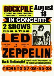 Led Zeppelin 1969 Toronto Concert parede Art Silk Poster 24x36 polegada 24x43 polegada em Promoção