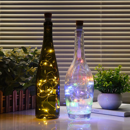 $enCountryForm.capitalKeyWord Australia - 1.5M 15Leds Holiday String Light Wine Cork Bottle Lights Copper Wire USB Charge Bedroom Lamp For Christmas New Year Table Home