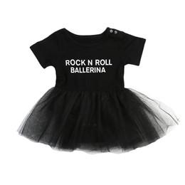 2634b20cc72 0-3T Baby Girls Letter Print Tutu Dress Infant Babies Girl Tulle Rock N  Roll Dresses Cute Ballet Clothing Joli