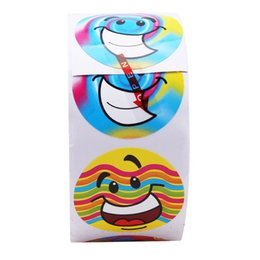 kids stickers roll Canada - 1 roll(100 stickers) Cute Cartoon Paper Stickers Rolls Kids Wild Animals Smiley Face Love Star Christmas Birthday