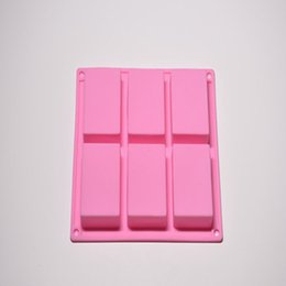 Homemade mold online shopping - 6 Cavity Plain Basic Rectangle Silicone Mould For Homemade Craft Soap Mold Decorating Tools Kitchen Baking Scraper