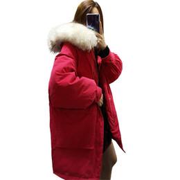 $enCountryForm.capitalKeyWord UK - Korean Style Fashion Loose Down Jacket Parka 2018 New Winter Women Raccoon Fur Hooded Duck Down Long Jacket Coat NS798