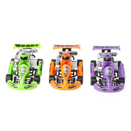 race car toys UK - Alloy car model Go-Kart racing game sport vehicle plastic motor pull back toy