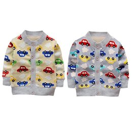 $enCountryForm.capitalKeyWord Australia - Spring Autumn 2 Colors Baby Girl Boy Clothes Cartoon Cardigan Long Sleeve Coat Sweatshirt For Girls Single Row Button Cotton