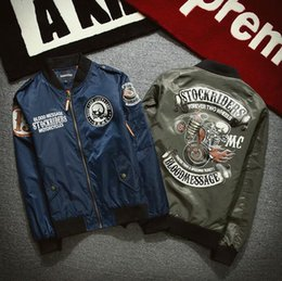 Skull Army Jacket Australia - good quality 5xl Ma1 Bomber Jacket Men Jaqueta Masculina Air Force 1 Skull Locomotive Veste Manteau Homme Softshell Pilot Jacket