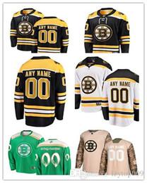 96a4e4ccba6 custom 2019 Men's Bruins Fanatics Branded Black Home Breakaway Custom Boston  women kids Jersey