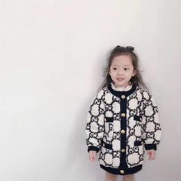 Jacket menina espessura quente de inverno Crianças Outono Jacket Roupa Crianças para Brasão bebê Casacos Meninas 2019 crianças de 90 ~ 150 em Promoção