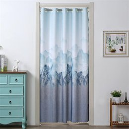 curtain painting Australia - Chines Stlye Kitchen Screen Curtain Household Door Curtain Partition Home Bedroom Decorative Landscape Painting