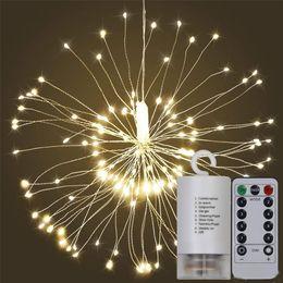 Festive feux d'artifice d'explosion de LED multi-mode feux d'artifice famille lumières de décoration chaleureuses en Solde