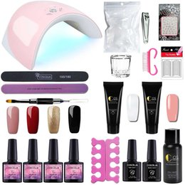 Lamp naiL art kit online shopping - 15ML Acrylic Poly Gel Set Fast Extension Crystal Jelly Polygel Nail Camouflage UV LED Builder Gel Nail Art Lamp Kit