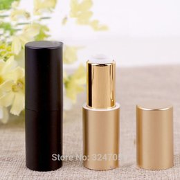 Discount high end lipstick 40pcs lot 12.1mm Superior Quality Black Gold Lipstick Bottle, DIY Magnetic High-end Lip Balm Tube, Cosmetic Lip Rouge Co